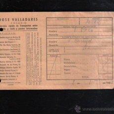 Sellos: COSARIO. JOSE VALLADARES. SERVICIO RAPIDO DE TRANSPORTES. 1952. SEVILLA. Lote 45368471