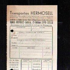 Sellos: COSARIO. TRANSPORTES HERMOSELL. 1955. SEVILLA. Lote 45368545