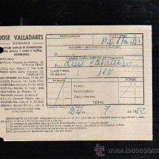 Sellos: COSARIO. JOSE VALLADARES. SERVICIO RAPIDO DE TRANSPORTES. 1952. SEVILLA. Lote 45368558