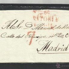 Selos: CIRCULADA Y ESCRITA DE UN ARRIERO RENEGOCIANDO ALQUILER 1838 DE VITORIA A MADRID VER FOTO. Lote 46138830