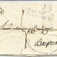 Sellos: CIRCULADA Y ESCRITA 1818 DE MADRID A BAYONA VER FOTO. Lote 46224700