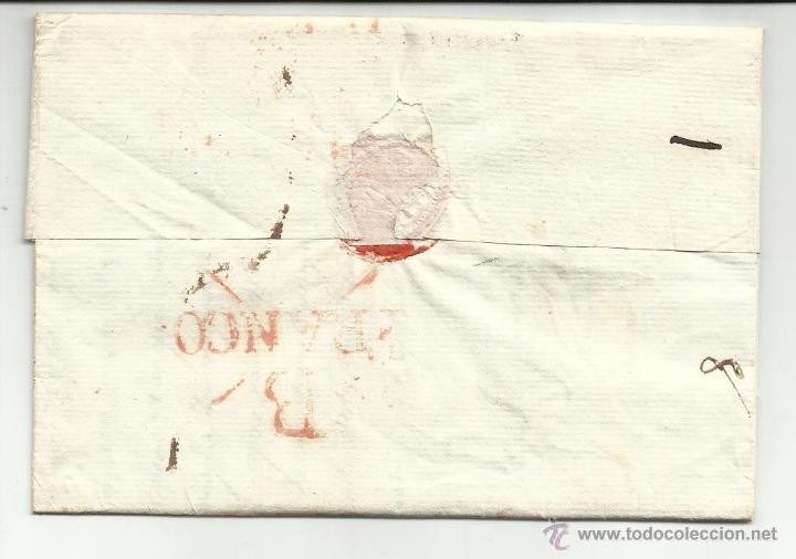 Sellos: circulada y escrita 1820 de bilbao a bayona ver foto - Foto 3 - 46224877