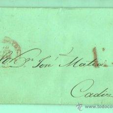 Sellos: CARTA PREFILATELIA - DIRIGIDA A CADIZ - MADRID 1846. Lote 46468962