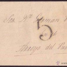 Sellos: ESPAÑA. (PE. - ). 1845. CARTA D BADAJOZ A ARROYO DEL PUERCO. POR PARTICULAR. TASA LLEGADA. MUY RARA.. Lote 46696610