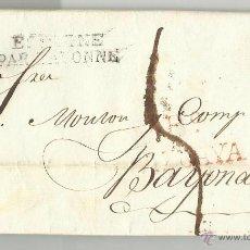 Sellos: CIRCULADA Y ESCRITA 1817 DE BILBAO VIZCAYA A BAYONA FRANCIA VER FOTO. Lote 47316342