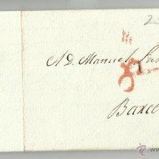Sellos: CIRCULADA Y ESCRITA 1827 DE MADRID A BARCELONA . Lote 47336442