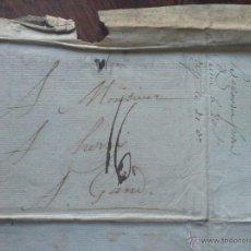Sellos: 1804-PREFILATELIA-CARTA MANUSCRITA CIRCULADA DE VITORIA A GANTE-MARCA 16 NEGRA. Lote 48742675
