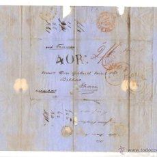 Sellos: SOBRE PREFILATELIA SICILIA - BILBAO. AÑO 1854.. Lote 50235490