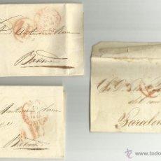 Sellos: AÑO 1848 * REUS A BARCELONA * TRES CARTAS PREFILATELICAS COMPLETAS CON EL TEXTO INTERIOR. Lote 50801268
