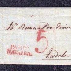 Sellos: 1827.- PAMPLONA A TUDELA. Lote 51100920