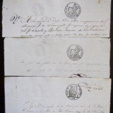 Sellos: TRES SELLOS CLASICOS FISCALES 1849, 1850 Y 1853. ANTIGUOS SELLOS FISCALES TIMBROLOGIA FILATELIA FISC. Lote 51387667