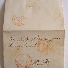 Sellos: 1851 CARTA PREFILATELICA DESDE VALLS A BARCELONA. Lote 51769937