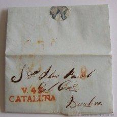 Sellos: 1838 CARTA PREFILATELICA DESDE VALLS A BARCELONA INCLUYE UN PAGO A LA ORDEN. Lote 51769972