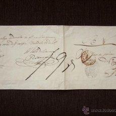 Sellos: PREFILATELIA. VALLADOLID A TORO, 1852. CARTA PREFILATÉLICA SERVICIO NACIONAL MARCA DE ABONO. PLICA. Lote 51924267