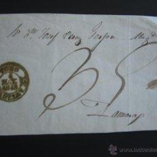 Sellos: PREFILATELIA. BAEZA DE TORO - ZAMORA, 1845. PORTEO MANUSCRITO. . Lote 52931826