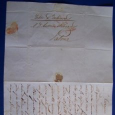 Sellos: 1839 TARRAGONA A PALMA DE MALLORCA * SUCESOS EN EL NORTE ...PENA DE VIDA A QUIEN HABLE DE PAZ.... Lote 53475516