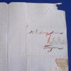 Sellos: 1834 CERVERA A TARRAGONA * AL GOBERNADOR CIVIL * PARTIDO REGALISTA Y POLITICA .... Lote 53475751