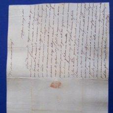 Sellos: 1835 SANTA COLOMA A TARRAGONA * AL GOBERNADOR CIVIL * UNO ES UN BESTIA Y EL OTRO UN CANALLA ... Lote 53475796