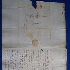 Sellos: 1829 TARROJA A BARCELONA * TEXTO EN CATALAN AL FUTURO GOBERNADOR DE TARRAGONA. Lote 53475835