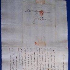 Sellos: 1828 CERVERA A BARCELONA * RAMON DE REQUESENS ANUNCIA MUERTE DE LA ABUELA. Lote 53475971