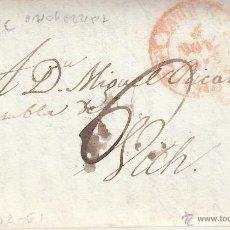 Sellos: PREFILATELIA CARTA COMPLETA DE TARRAGONA A VIC 1843. Lote 53764323