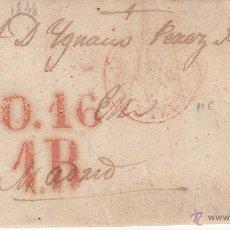Sellos: PREFILATELIA- CARTA ENTERA DE BILBAO A MADRID --1848---. Lote 53808064