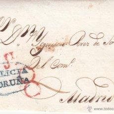 Sellos: PREFILATELIA- CARTA ENTERA DE LA CORUÑA A MADRID -----1836-------. Lote 53835895