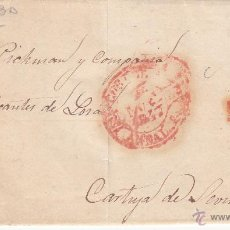 Sellos: PREFILATELIA- CARTA COMPLETA DE CÓRDOBA A SEVILLA ----1847----. Lote 53837244