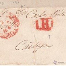 Sellos: PREFILATELIA- CARTA COMPLETA DE MADRID A SEVILLA --1847---. Lote 53845455