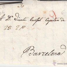 Sellos: PREFILATELIA CARTA COMPLETA DE MADRID A BARCELONA ---1834 -VER DESCRIPCIÓN---. Lote 53845710
