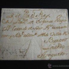 Sellos: PREFILATELIA, 1765. CARTA DE VALLADOLID A AMPUERO EN 1765. POR EL REY. MARCA CASTILLA LA VIEJA . Lote 54022092