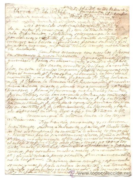 Sellos: SOBRE PREFILATELIA VERGARA - TOLOSA. GUIPUZCOA. AÑO 1844 - Foto 2 - 54372041