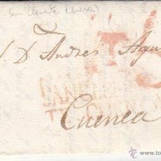 Sellos: PREFILATELIA CARTA COMPLETA DE SAN CLEMENTE A CUENCA --1833. Lote 54431481