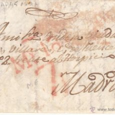 Sellos: PREFILATELIA - CARTA COMPLETA DE MIAJADAS - CÁCERES- A MADRID ---1837. Lote 54435154