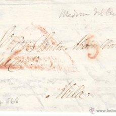 Sellos: PREFILATELIA - CARTA COMPLETA DE MEDINA DEL CAMPO-VALLADOLID- A AVILA ---1835111. Lote 54435238