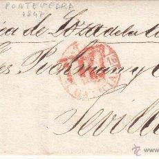 Sellos: PREFILATELIA - CARTA COMPLETA DE PONTEVEDRA A SEVILLA --1847---. Lote 54435598