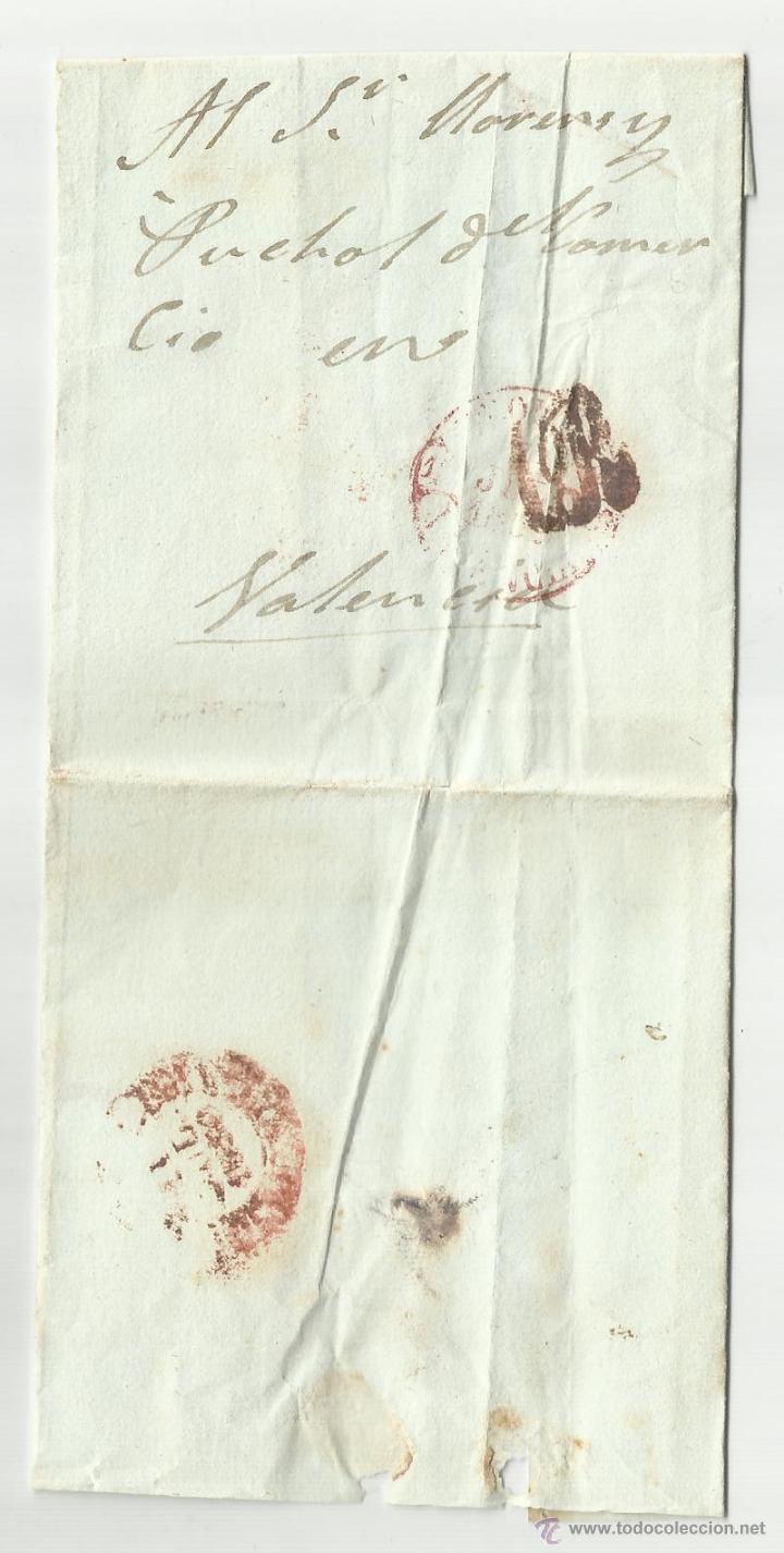 CIRCULADA 1850 A VALENCIA (Filatelia - Sellos - Prefilatelia)