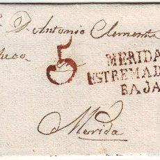 Sellos: CARTA MÉRIDA - MERIDA (EXTREMADURA BAJA). Lote 55140403