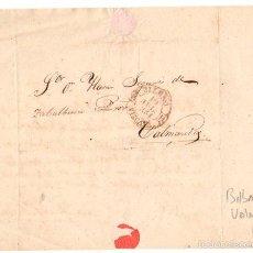 Sellos: SOBRE PREFILATELIA BILBAO - BALMASEDA. VIZCAYA. AÑO 1854. Lote 55181900