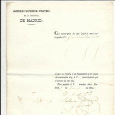 Sellos: GOBIERNO SUPERIOR POLITICO MADRID 1850 AL SR ALCALDE DE FOLLEDO OVIEDO. Lote 55691301