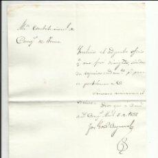 Sellos: ALCALDIA CONSTITUCIONAL CANGAS DE TINEO 1837 A ALCALDE DE TINEO. Lote 55691593