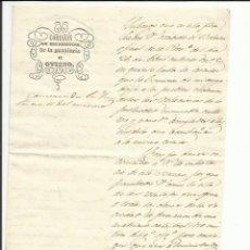 Sellos: COMISION ESTADISTICA PROVINCIA OVIEDO 1850 AL AYUNTAMIENTO DE TINEO. Lote 55692065