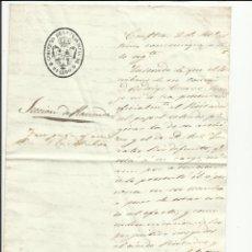 Sellos: GOBIERNO PROVINCIA OVIEDO SECCION HACIENDA 1850 AL AYUNTAMIENTO DE CANGAS DE TINEO. Lote 55692300
