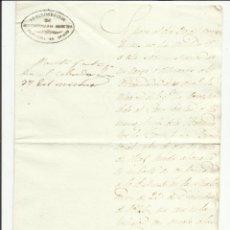 Sellos: ADMINISTRACION CONTRIBUCIONES DIRECTAS PROVINCIA OVIEDO 1850 AL ALCALDE DE TINEO. Lote 55692949