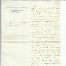 Sellos: COMISION ESTADISTICA PROVINCIA OVIEDO 1850 AL AYUNTAMIENTO DE TINEO. Lote 55693012