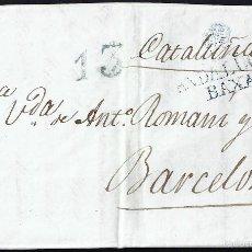 Sellos: 1841 SEVILLA A BARCELONA ANDALUCÍA BAJA. Lote 55701050