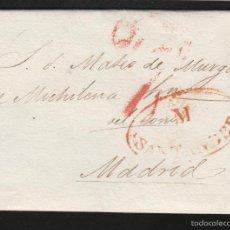 Sellos: PREFILATELIA CANTABRIA : CARTA ORIGEN SANTANDER DEST MADRID AÑO 1834 . Lote 55791509