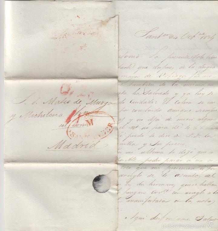 Sellos: PREFILATELIA CANTABRIA : CARTA origen SANTANDER dest MADRID año 1834 - Foto 2 - 55791509