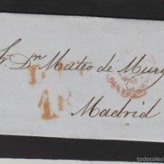 Sellos: PREFILATELIA CANTABRIA : CARTA SANTANDER / MADRID AÑO 1853 MARCA BAEZA TASA 1 R Y FECHADOR LLEGADA . Lote 55791809