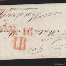 Sellos: PREFILATELIA CANTABRIA : CARTA SANTANDER / MADRID AÑO 1849 MARCA BAEZA TASA 1 R Y FECHADOR LLEGADA . Lote 55791865